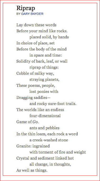 Gary Snyder Poet Of The Earth Before Earth Day
