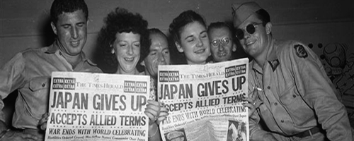 Post image for JAPAN SURRENDERS 1945